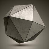 从三角创造的难看的东西metallic3d球状对象, futur 皇族释放例证