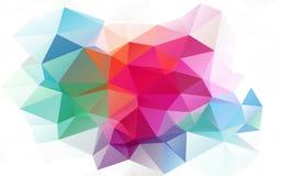 三角多色背景  在一个空白背景 免版税图库摄影