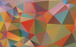 三角多色背景  明亮的颜色,欢乐抽象背景 库存照片
