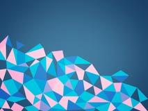 三角多角形山  免版税库存照片