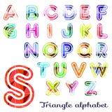三角字母表, ABC 向量例证