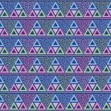 三角孟菲斯无缝的样式传染媒介 库存例证