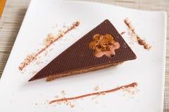 三角巧克力蛋糕 库存照片