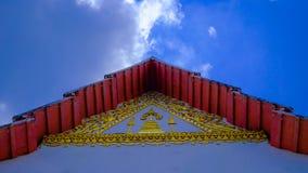 三角形屋顶WatPalayli寺庙 免版税库存照片