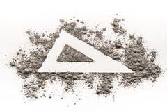 三角形状在灰的标志图画 免版税图库摄影