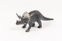 三角恐龙恐龙玩具模型 免版税库存图片