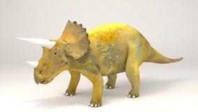 三角恐龙恐龙 免版税图库摄影