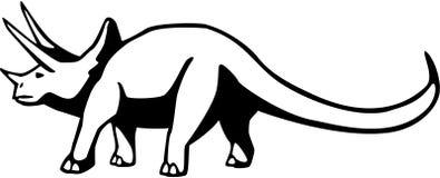 三角恐龙 库存例证