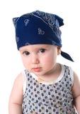 三角方巾的小孩 图库摄影