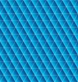 三角无缝与蓝色梯度 美好的多角形textur 向量例证