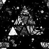 三角无缝的模式 库存图片