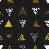三角无缝的模式 免版税库存图片