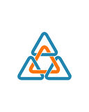 三角最初摘要2业务保险摘要 库存照片