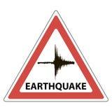 三角标志地震学意思,地震的震颤 库存例证