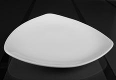 三角浅瓷碗 免版税库存图片