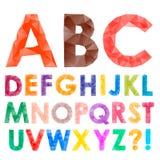 从三角的五颜六色的字体 库存照片
