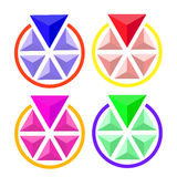 三角的圈子容量 免版税库存图片