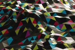 从三角的抽象形状 库存照片