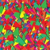 三角的无缝的抽象装饰样式 免版税库存照片
