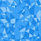 三角的模式 几何的背景 蓝色轻多角形 库存图片
