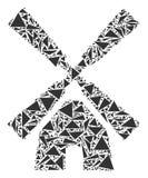 三角绕环投球法马赛克  库存例证
