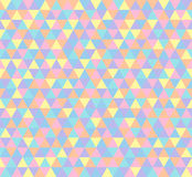 三角背景,在淡色的无缝的样式 库存图片