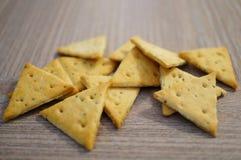 三角薄脆饼干 图库摄影