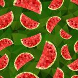 三角西瓜摘要无缝的样式 免版税库存图片