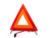 三角警告 免版税图库摄影