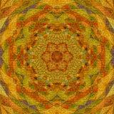 三角金黄坛场,苍白蔓藤花纹作用挂毯 库存图片