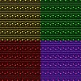 三角阿兹台克霓虹背景集合 免版税图库摄影