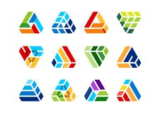 三角,元素,大厦,商标,建筑,房子,建筑学,房地产,家,元素 向量例证
