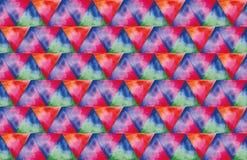 三角水彩纹理  免版税库存照片