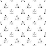 三角 黑色模式无缝的白色 盖子的几何,抽象背景,纺织品 乱画形状 图库摄影