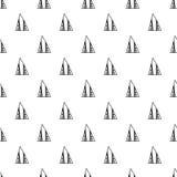 三角 黑色模式无缝的白色 盖子的几何,抽象背景,纺织品 乱画形状 库存照片