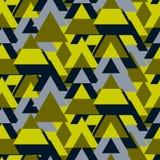 三角camo大胆的无缝的传染媒介样式 库存图片