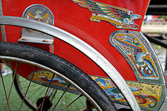 三轮车是庄稼 免版税库存图片