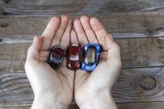三辆微型汽车 免版税库存照片