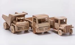 三辆玩具汽车 卡车和倾销者 图库摄影