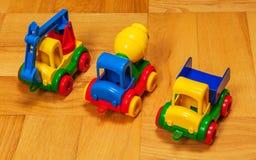 三辆玩具汽车 免版税库存图片