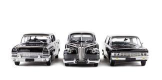 三辆葡萄酒玩具汽车 免版税库存图片