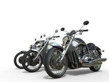 三辆令人敬畏的摩托车 库存图片