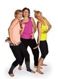 三逗人喜爱的妇女跳舞 库存照片