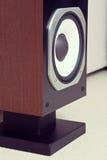 三通的大音频立体声扩音机特写镜头,扩音器pai 库存照片