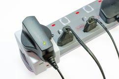 三通的电源插座 免版税库存照片