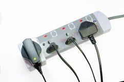 三通的电源插座 图库摄影