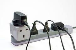 三通的电源插座 库存图片
