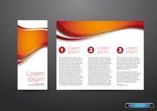 三部合成的企业小册子模板 库存照片