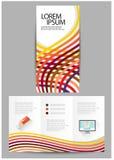 三部合成的企业小册子 免版税库存图片