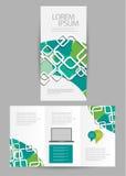 三部合成的企业小册子 免版税库存照片